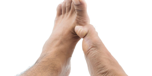The big toe can become stiff and rigid